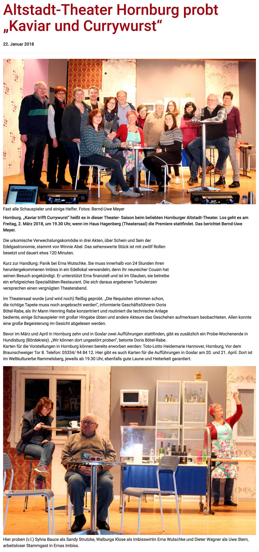 Altstadttheater Hornburg e.V. » Saison 2018
